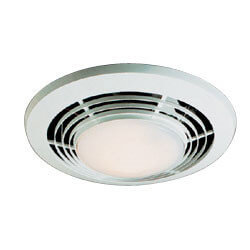 "QT9093WH Heater, Fan,<br>& Light Combo - 4"" Round Duct (110 CFM) Product Image"