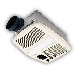 "QTXN110HL Heater Combo Vent Fan w/ Light<br>6"" Round Duct (110 CFM) Product Image"