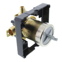 "MultiChoice Valve Body w/ PEX Inlet & 1/2"" Universal Male Thread Outlets Product Image"