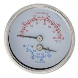 Temperature & Pressure Gauge (70-250°F, 0-225 psi) Product Image