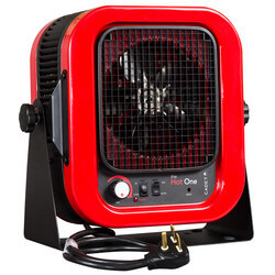 The Hot One Garage & Shop Heater, Red<br>(240V - 5000W) Product Image