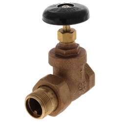 "1"" Steam Radiator Gate Valve (FIP x Male Union) Product Image"