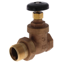 "1-1/4"" Steam Radiator Gate Valve (FIP x Male Union) Product Image"