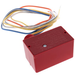Enclosed Pilot Relay w/ Red Housing, 10A, SPDT, 10-30 Vac/DC/120 Vac Coil Product Image