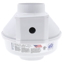 "RN Series Inline Radon Fan, 4.5"" Pipe (166 CFM) Product Image"