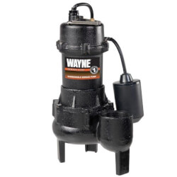 RPP50 1/2 HP Cast Iron Submersible Sewage Pump w/ Piggyback Tether Float Product Image