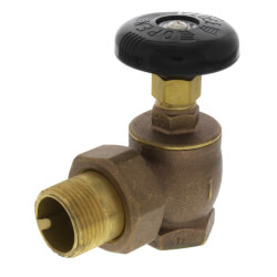 "1"" (FIP x Male Union) Steam Angle<br>Radiator Valve Product Image"