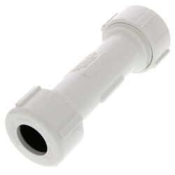 "1/2"" PVC Sch. 40 Compression Coupling (PVC White - Buna-N Gasket) Product Image"
