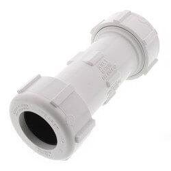 "1"" PVC Sch. 40 Compression Coupling (PVC White - Buna-N Gasket) Product Image"