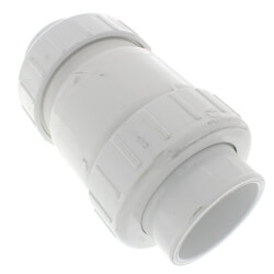"""3"""" PVC True Union Utility Spring Check Product Image"""