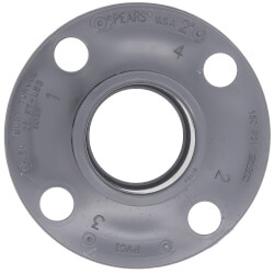 """2"""" PVC Sch. 80 Van Stone Flange (Socket x Solid Ring) Product Image"""
