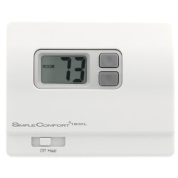 Non-Programmable <br>1-Stage Heat Only SimpleComfort Thermostat Product Image