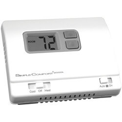 Non-Programmable 1H/1C/1 Heat Pump SimpleComfort Thermostat Product Image