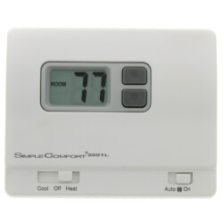 Non-Programmable 1H/1C/1 Heat Pump <br>(4-5 Wire) Thermostat Product Image