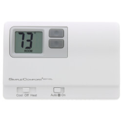 Non-Programmable 1H/1C/1 Heat Pump Dual Powered Thermostat Product Image