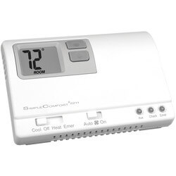 Non-Programmable <br>3H/2C Heat Pump Only SimpleComfort Thermostat Product Image