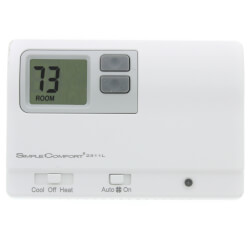 Non-Programmable <br>2 Stage Heat/1 Stage Cool SimpleComfort Thermostat Product Image