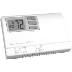 Battery Programmable 1H/1C/1 Heat Pump SimpleComfort Thermostat Product Image