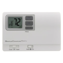 7 Day Prog. 1 Stage 1H/1C/1 Heat Pump Thermostat Product Image