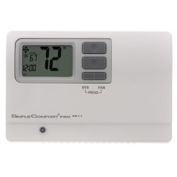 Programmable 2H/2C/2 Heat Pump SimpleComfort PRO Thermostat Product Image