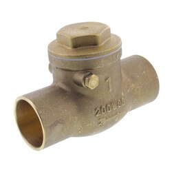 "1"" Solder Ends Swing Check Valve, Lead Free Product Image"