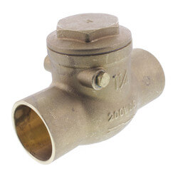 "1-1/4"" Solder Ends Swing Check Valve, Lead Free Product Image"