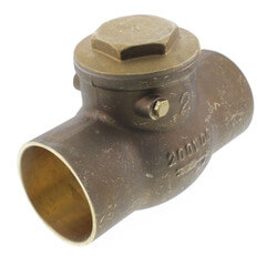 "2"" Solder Ends Swing Check Valve, Lead Free Product Image"