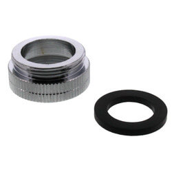 """13/16"""" F x 55/64"""" M Chrome Aerator Adaptor for Chicago Faucets Product Image"""