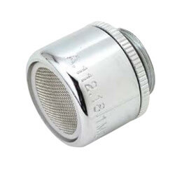 Slotless Chrome Male Faucet Aerator for Chicago Faucet w/ Washer, 2.2 GPM Product Image
