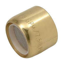 Slotless Polished Brass Female Thread Faucet Aerator for Price Pfister w/ Washer, 2.2 GPM Product Image