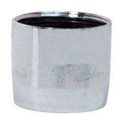 """3/4"""" Slotless Chrome Female Faucet Aerator w/ Washer, 1.5 GPM Product Image"""