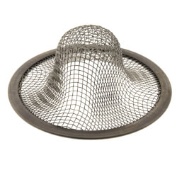 "2-3/16"" Universal Lavatory Mesh Sink Strainer (Chrome) Product Image"