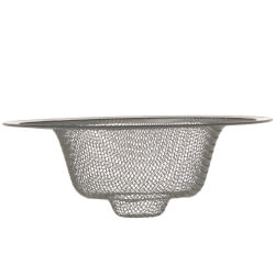 "4-3/8"" Universal Kitchen Mesh Sink Strainer (Chrome) Product Image"
