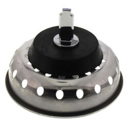 "3-1/2"" Replacement Basket Strainer with Metal Post and Rubber Stopper Product Image"
