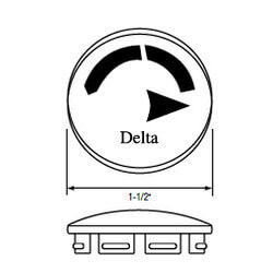 "1-1/2"" Handle Cap for Monitor 1300/1400 Series Delta Faucets (Clear) Product Image"