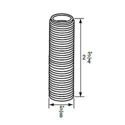 """5/8"""" x 2-3/4"""" White Plastic Escutcheon Nipple (18 TPI) for Price Pfister Product Image"""