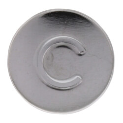 """13/16"""" Chrome Cold Handle Cap for American Standard Faucets (5-Pack) Product Image"""