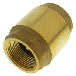 "1-1/4"" Threaded Spring Loaded Check Valve,<br>Lead Free Product Image"