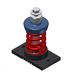 """1"""" Deflection Single Spring (750 lbs Capacity) Product Image"""