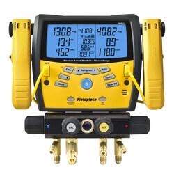 SMAN460, 4 Port Wireless Digital Manifold w/ Micron Gauge Product Image
