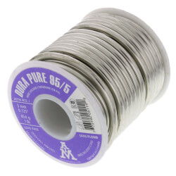 95/5 Lead Free Solder 1 lb. Spool<br>(95% Tin - 5% Antimony) Product Image