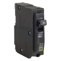QO Single Pole 20A Miniature Circuit Breaker Product Image