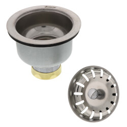 BS-313B, Brushed Stainless Steel Snap-N-Loc Strainer Product Image