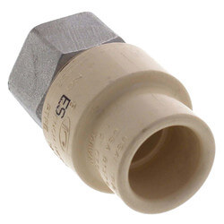 """1-1/4"""" CPVC x Female Stainless Steel Adapter (Lead Free) Product Image"""