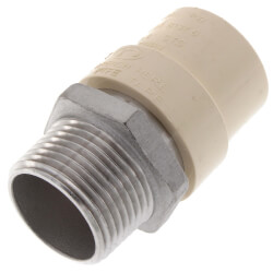 "3/4"" CPVC x Male Stainless Steel Adapter (Lead Free) Product Image"