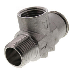 """1/2"""" Stainless Steel Relief Valve, Non-Adjustable, 75 psi (Lead Free) Product Image"""
