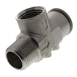 """1/2"""" Stainless Steel Relief Valve, Non-Adjustable, 100 PSI (Lead Free) Product Image"""