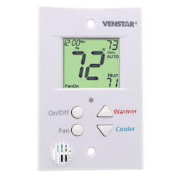 T0051FS FlatStat Programmable Digital Thermostat (Designed for Hospitality Industry) Product Image