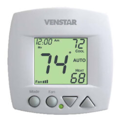 Venstar T1070 Non-Programmable Fan Coil Thermostat (2 or 4 Pipe, 3 Speed Fan) Product Image