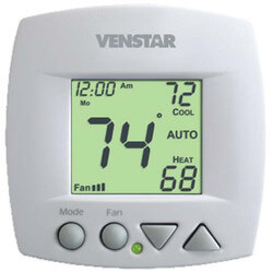 Venstar T1075 7 Day Prog. Fan Coil Thermostat (2 or 4 Pipe, 3 Speed Fan) Product Image